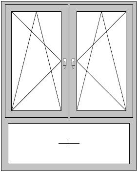 Ffnungsvarianten for Fenster mit unterlicht