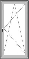 1-flügelige Dreh/Kipp-Balkontür