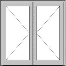 2-flügelige Hauseingangstür