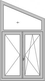 Fenster mit schrägem Oberlicht
