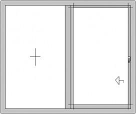 Hebe-Schiebetür mit festem Seitenteil (HS)