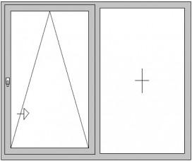 Parallel-Schiebe-Kipp-Tür mit festem Seitenteil (PSK)