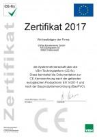 CE Zertifikat 2017