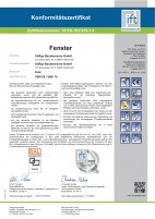 Zertifikat Holzfenster