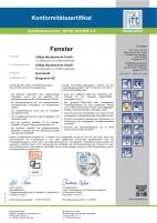 Zertifikat Kunststofffenster